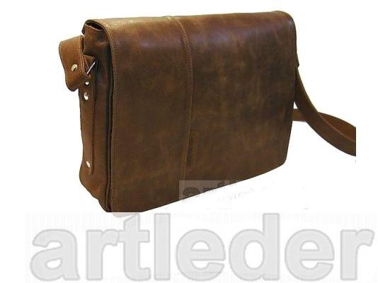 Taška Aktovku kožený retro poľský výrobca