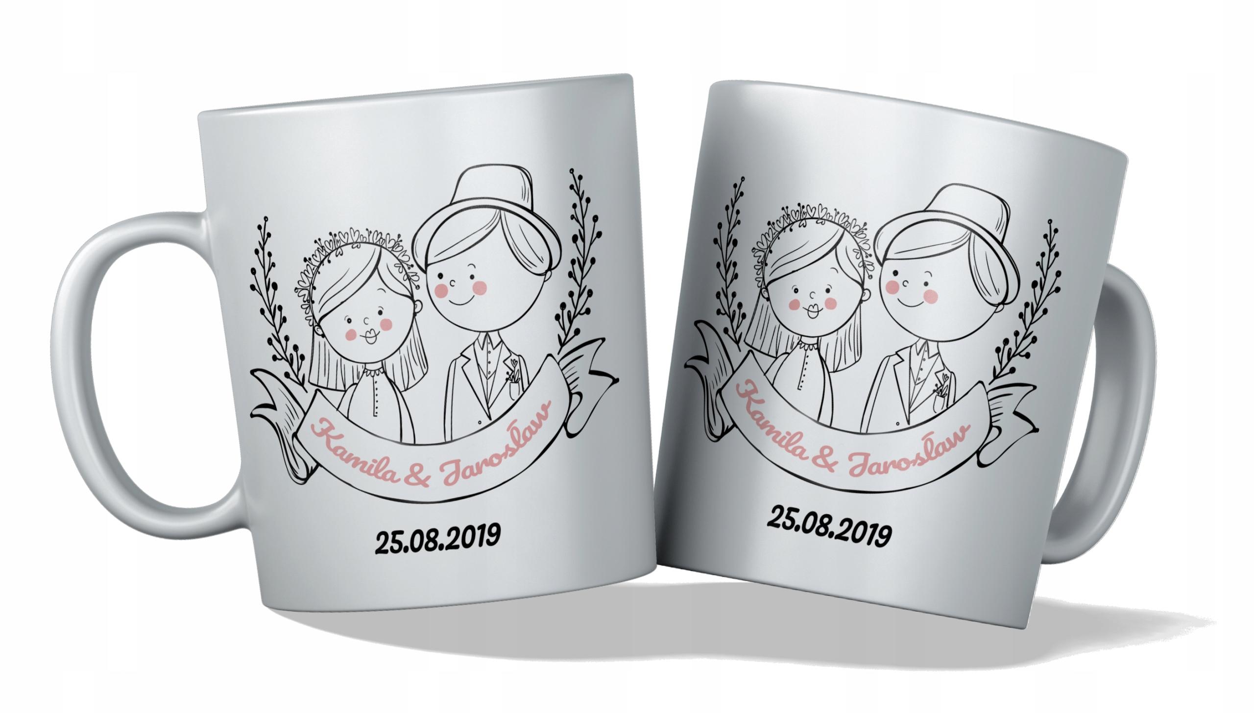 Кружка x2 подарочные чашки свадебный подарок Множество дизайнов