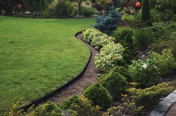Zestaw obrzeże trawnikowe EASY BORDER KOTWY 10m Kolor szary