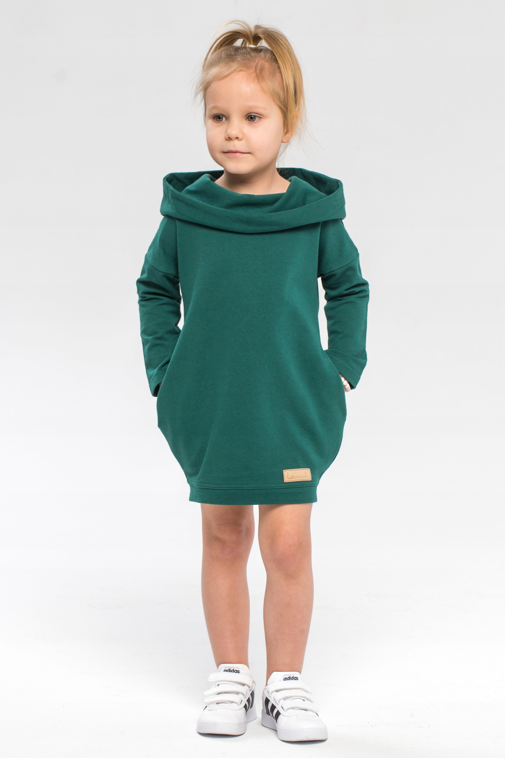Lovemade zelená blúzka s kapucňou pre dievčatá