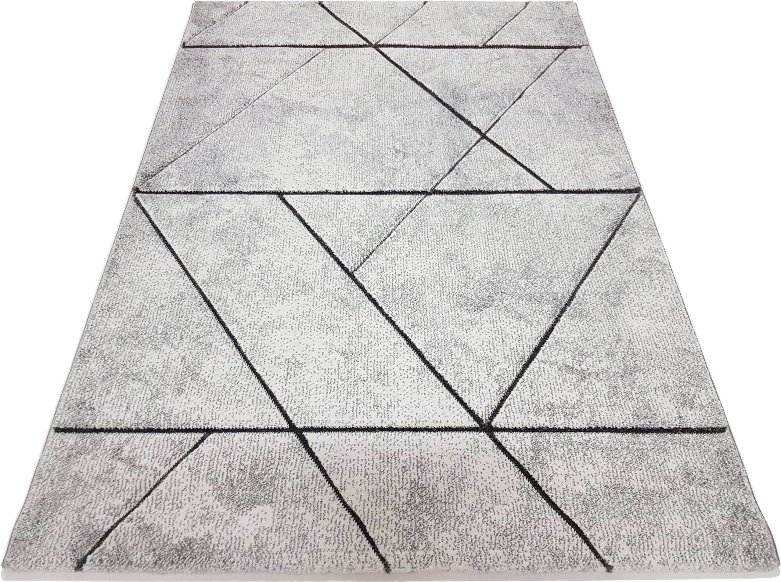 Koberec Koberec 80x150 3D DIAMOND dash sivý popol BELIS