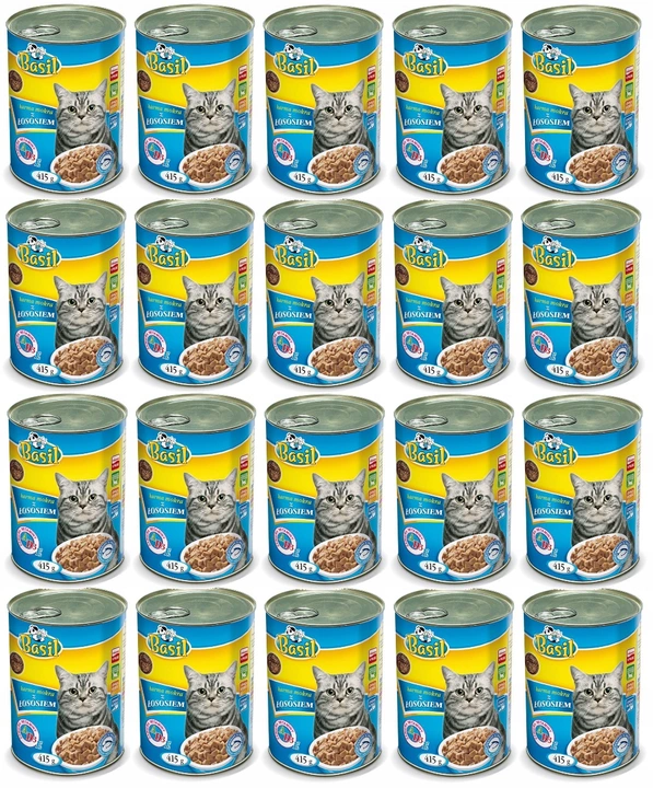 Karma dla kota puszka BASIL MIX SMAKÓW 60 x 415g Marka inna