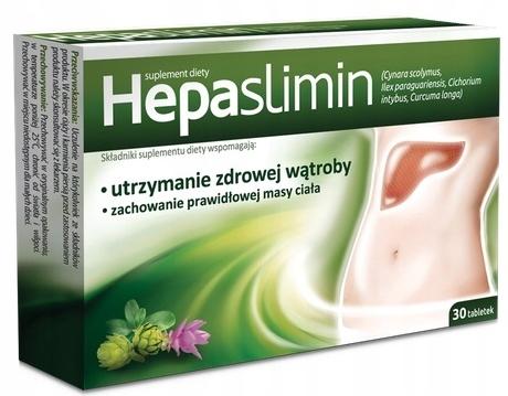 Hepaslimin WĄTROBA TRAWIENIE 30 tabletek