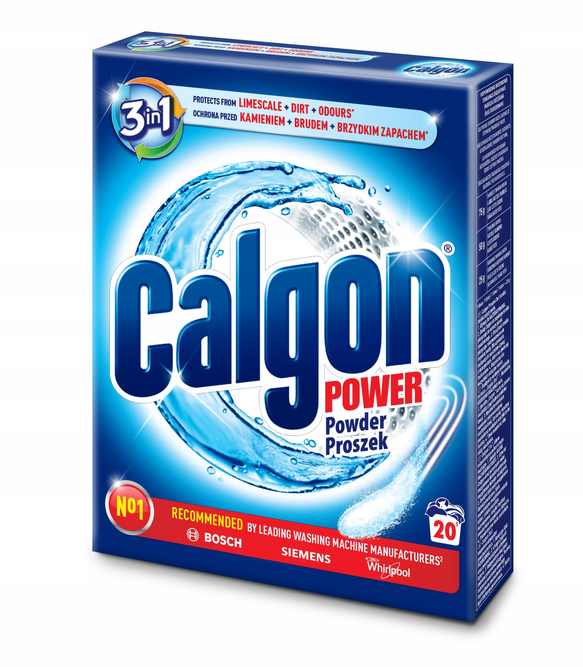 Calgon Порошок 3 в 1 для удаления накипи Стиральной машины 500 20pr