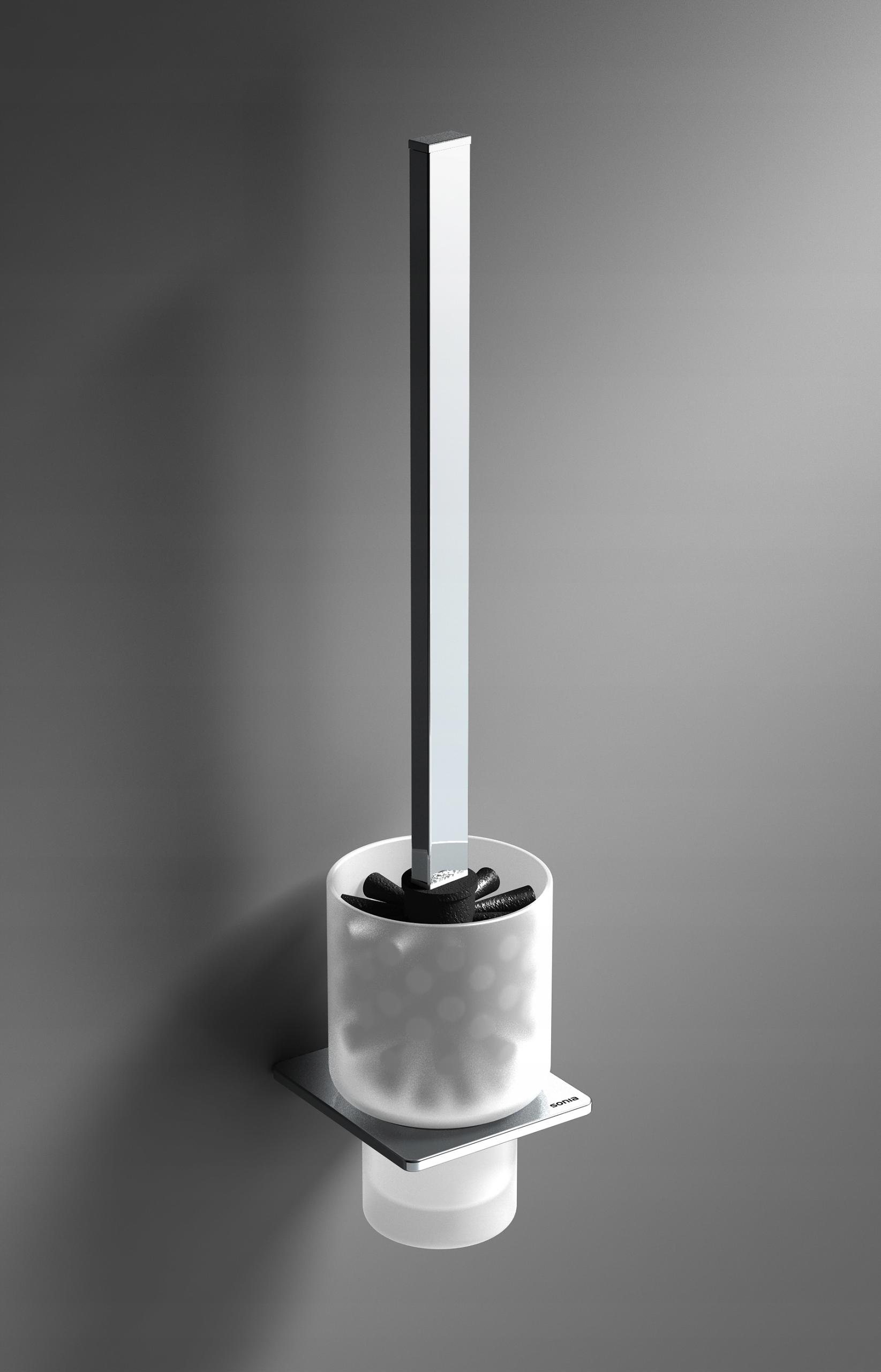 SYSTÉM Kefa WC závesné lampy SONIA S-Kocka, chrome