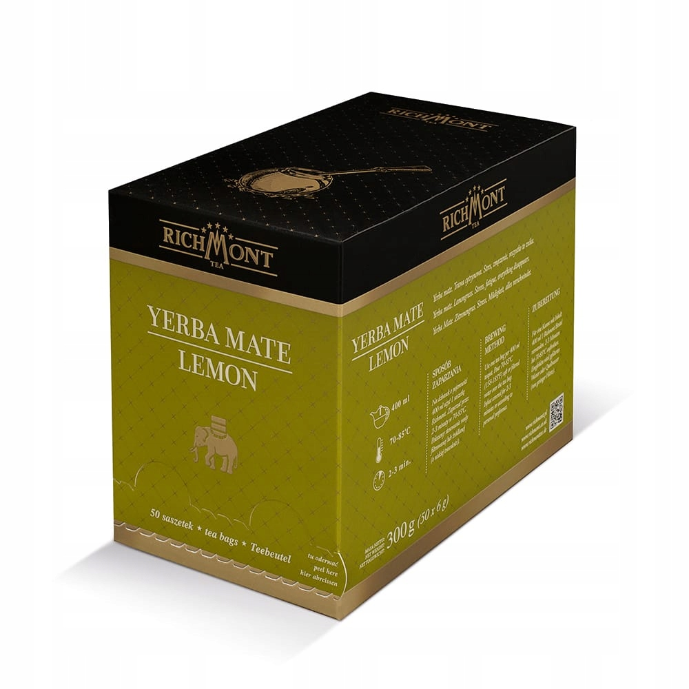 Čaj RICHMONT Yerba Mate Lemon 50 vrecák