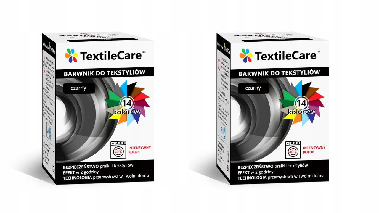 TextileCare 2 PCS BLACK DYE PAINT 600г FABRICS