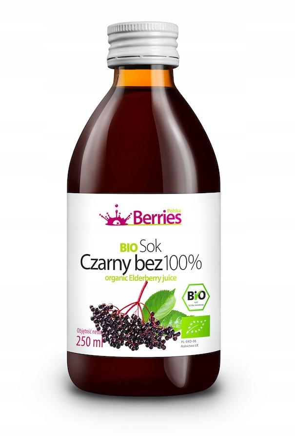 Sok BIO Czarny Bez 100% sok z czarnego bzu 250ml