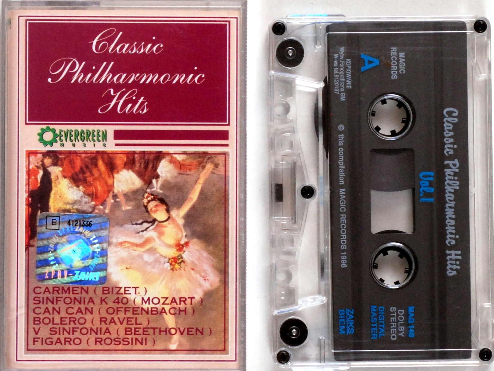 Классический Филармонический Hits Vol.1 (картридж) s.ОЧ. доставка товаров из Польши и Allegro на русском