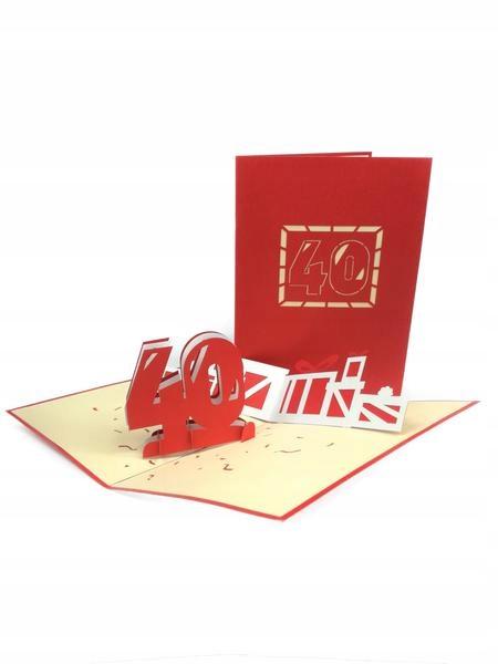 Item 40th Birthday GrandGift Greeting Card 3D Gift