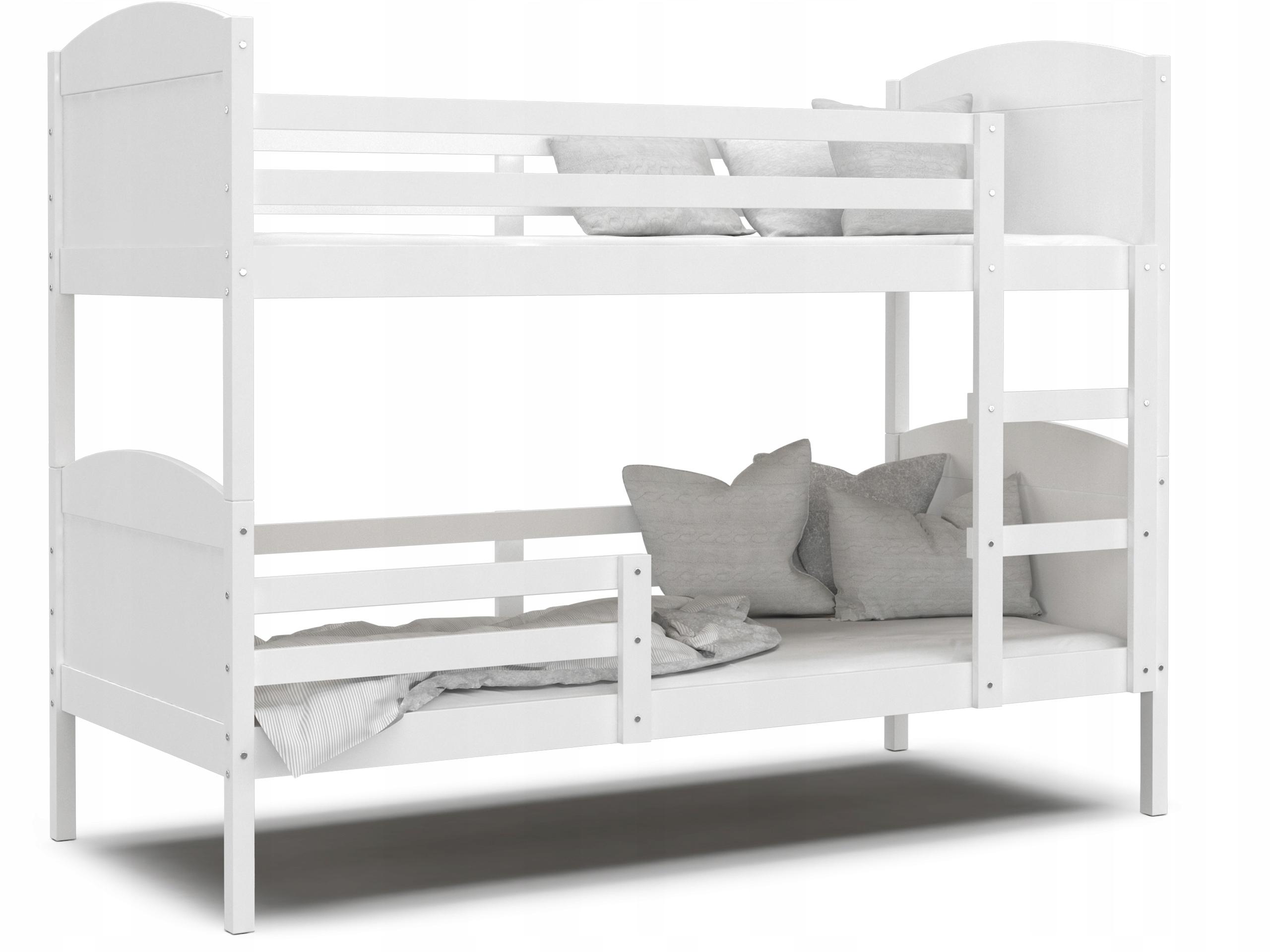 Łóżko piętrowe MATEUSZ białe bez szuflady 190x80