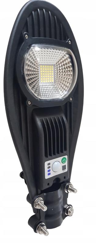 Lampa uliczna LED latarnia solarna 50W + PILOT ! Cechy dodatkowe czujnik czasu świecenia czujnik ruchu czujnik zmierzchu możliwość pracy w temperaturze poniżej zera możliwość ściemniania pilot regulacja padania światła