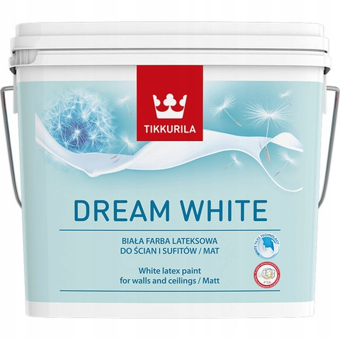 TIKKURILA Dream White 10l Biała lateksowa farba