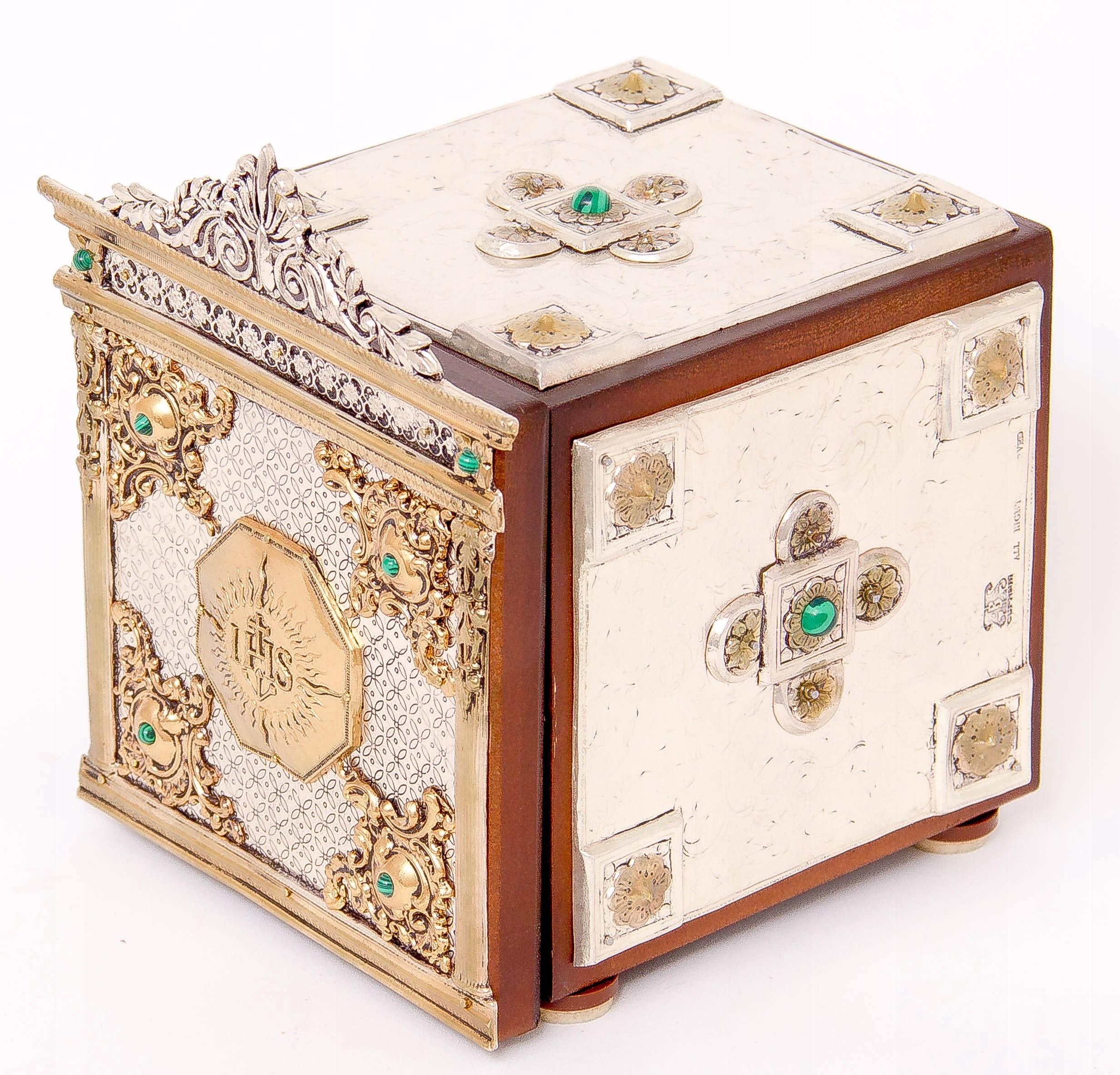 Srebrzone i złocone tabernakulum kolekcjonerskie! Rama bez ramy