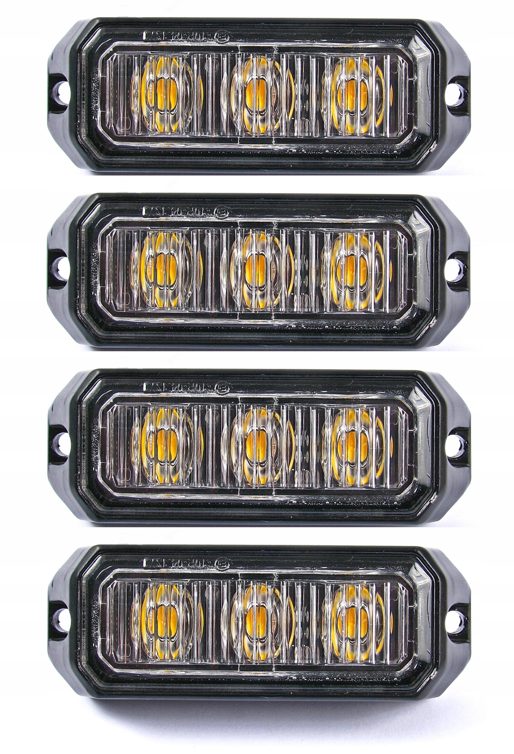 лампа 3 led предупреждения x4 стробоскоп помощь эвакуаторов