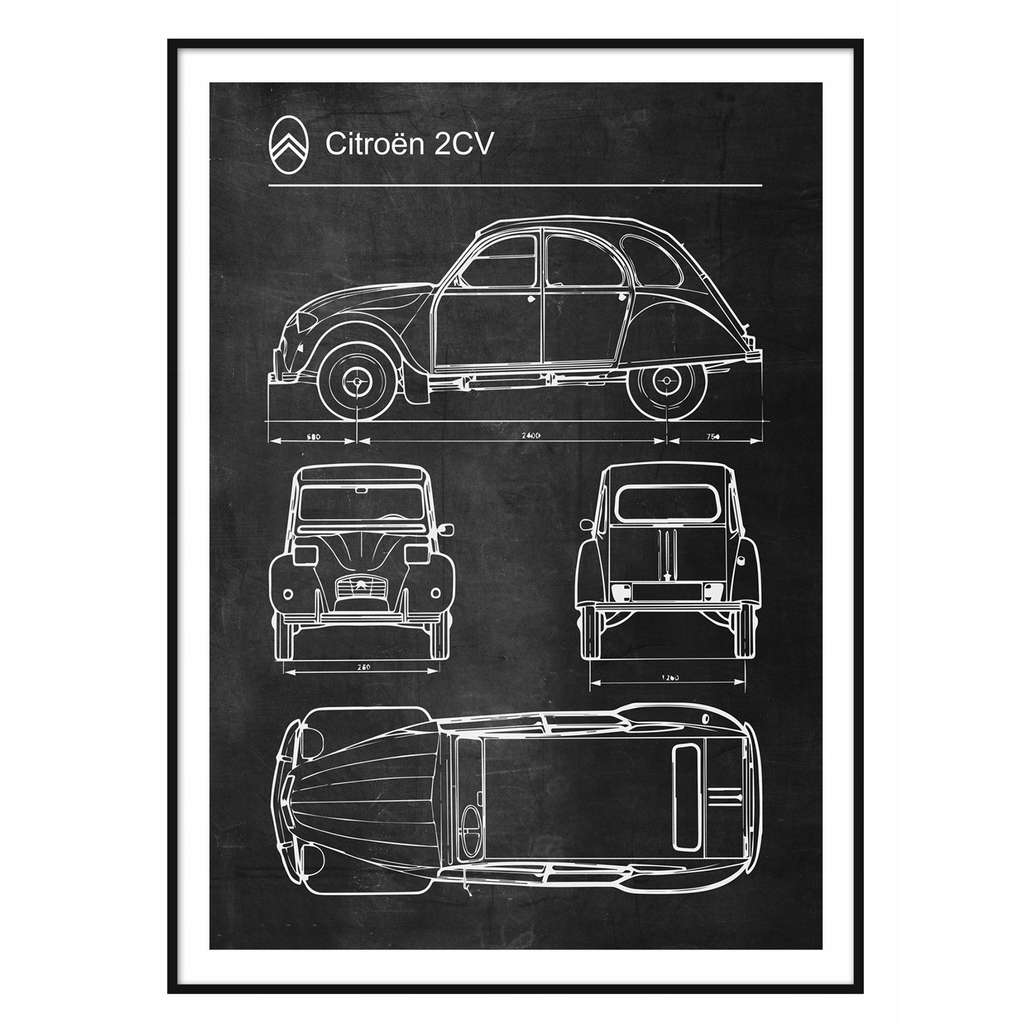 Citroen 2CV Retro patentový diagram