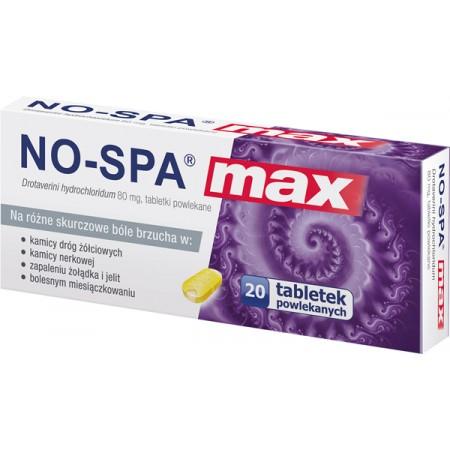 Купить No-Spa Max 80 mg, 20 tabletek powlekanych на Otpravka - цены и фото - доставка из Польши и стран Европы в Украину.