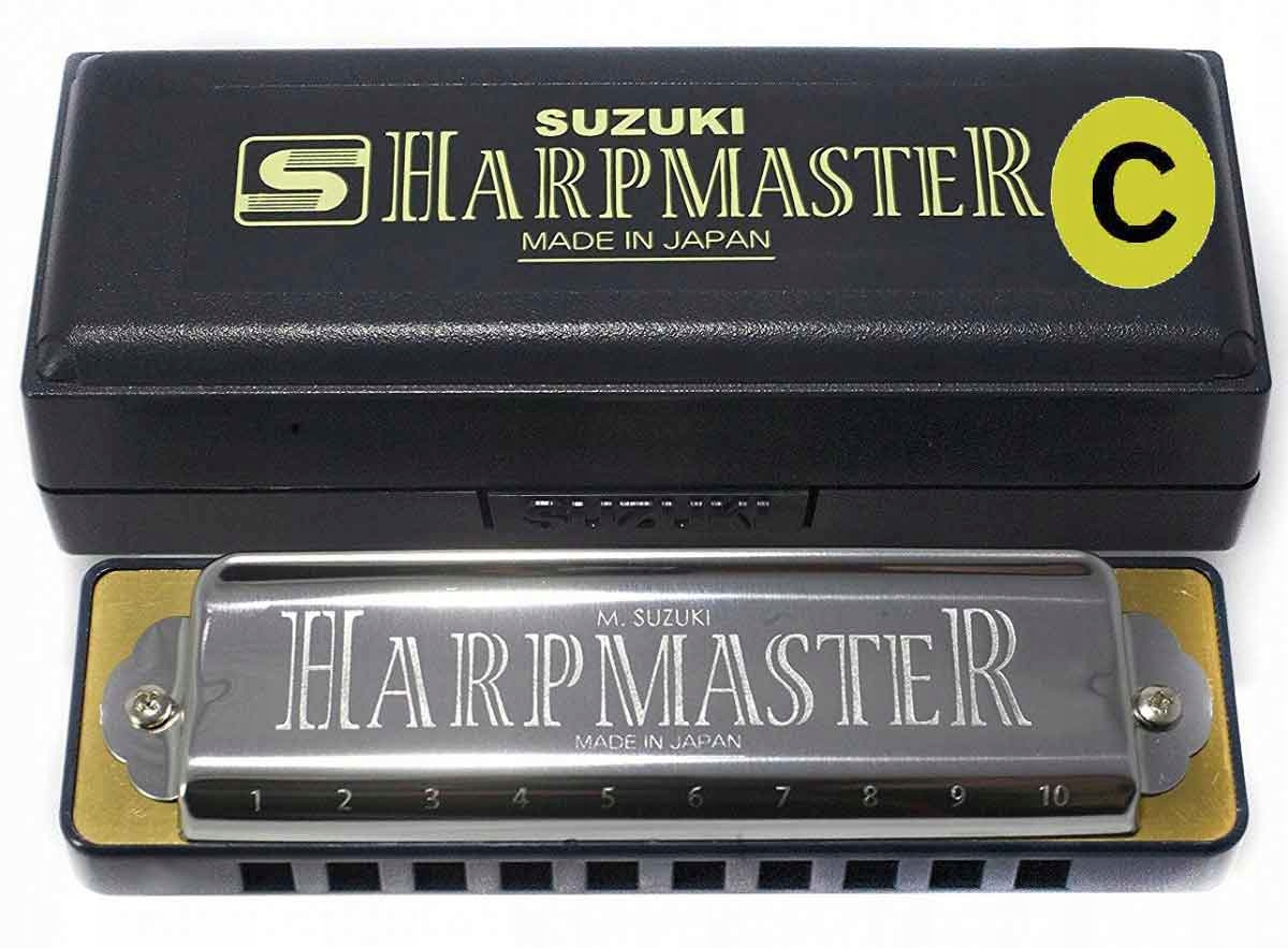 SUZUKI HARPMASTER MR-200 C PERAL HARMONICA