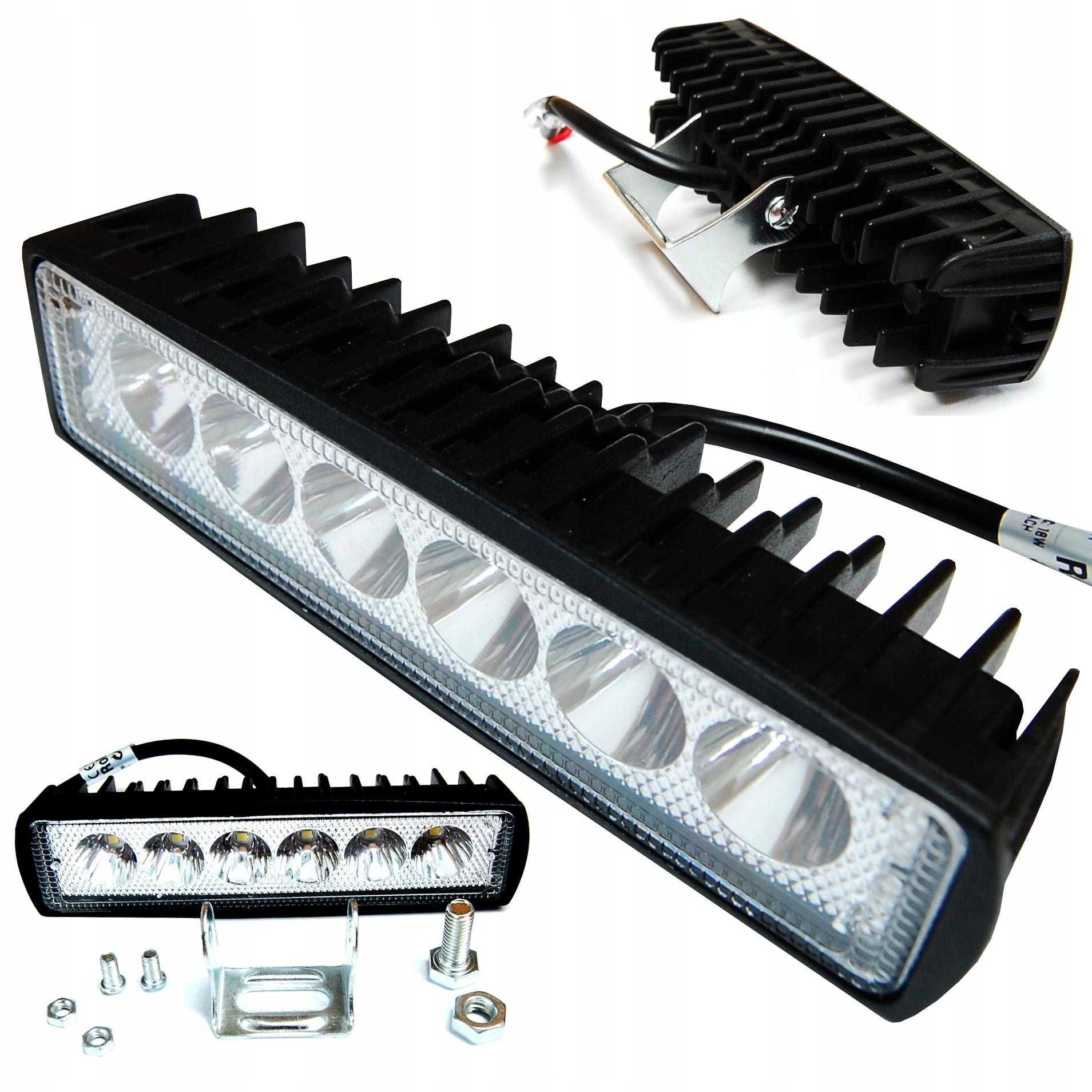Item Led work LAMP 6 LED 18W halogen 12-24V SPOTLIGHT