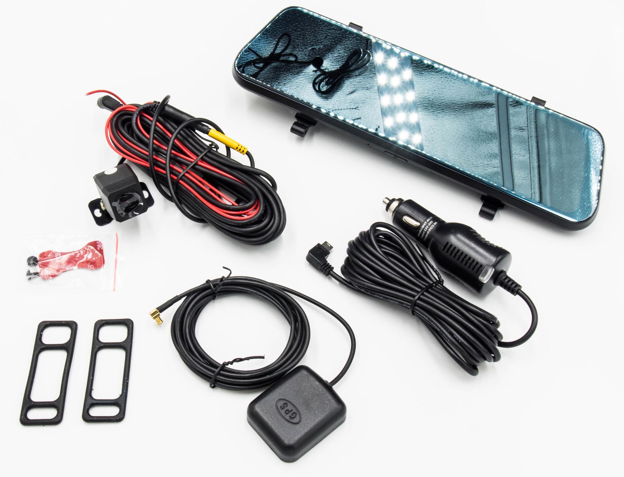 """Rejestrator 2020 Lusterko Android ADAS 4G WiFi GPS Przekątna ekranu 10"""""""