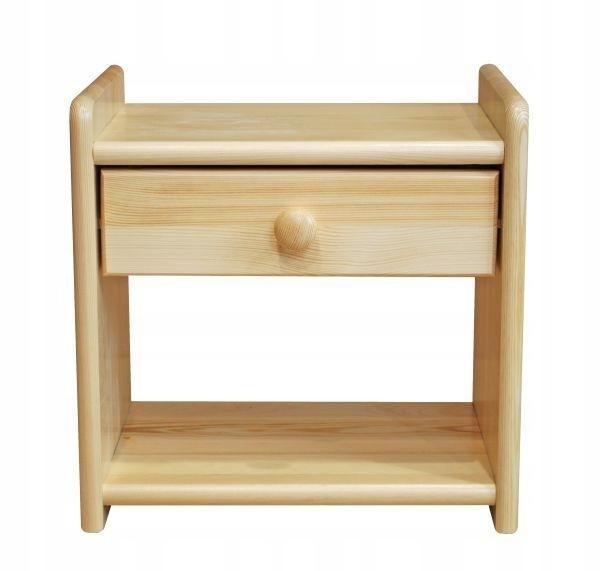 Szafka nocna sosnowa drewniana z szufladą 42x40x30
