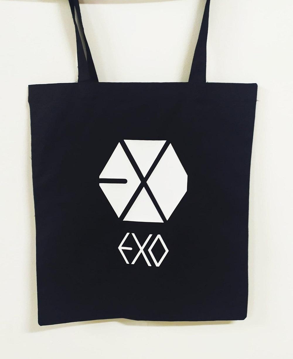 Item Bag cotton black EXO