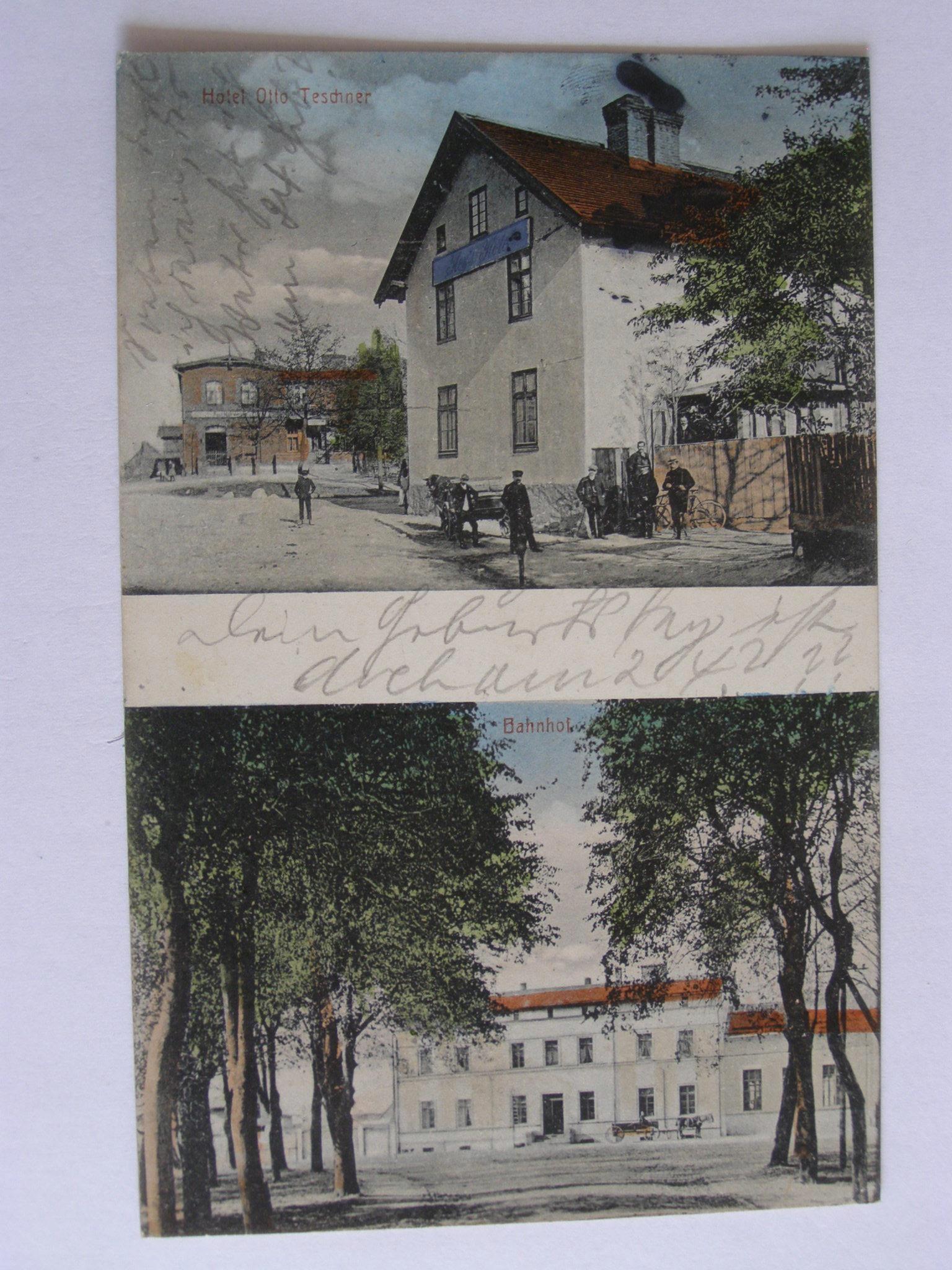 Warlubie Warlubien вокзал отель 1913 горит