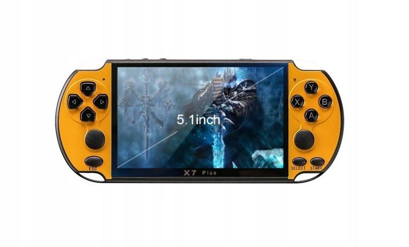 Console X7 plus 8GB MP5 MP4 MP3 hra Rozprávková príbeh žltá