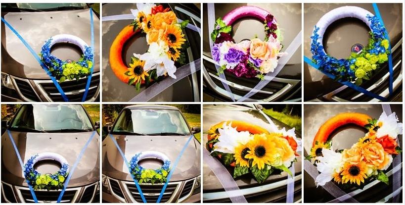 Výzdoba na auto Kvetinový veniec FARBA HARP ZADARMO