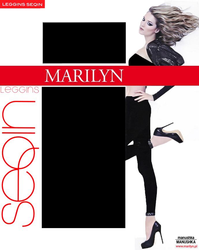 Marilyn Gładkie Legginsy Z Cekinami Seqin S/m