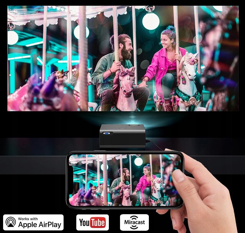 OVERMAX MULTIPIC 3.5 LED HD WiFi PROJEKTOR Sølvfarget