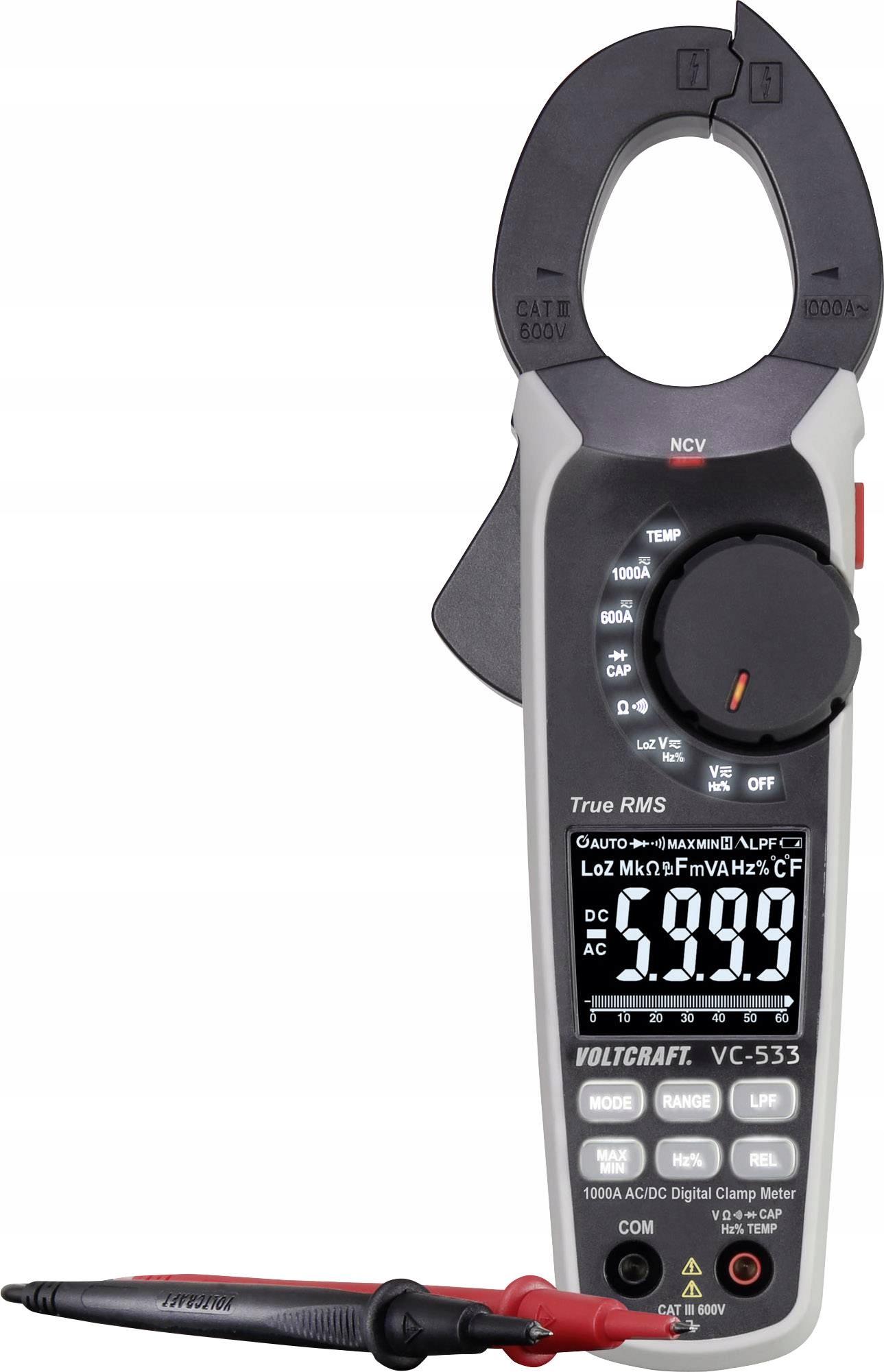 VOLTCRAFT VC-533 Miernik cęgowy cyfrowy 600 V