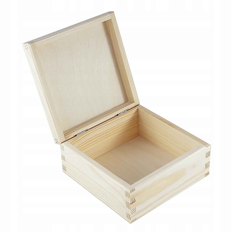 Item The box is wooden box pojemnik16x16DECOUPAGE