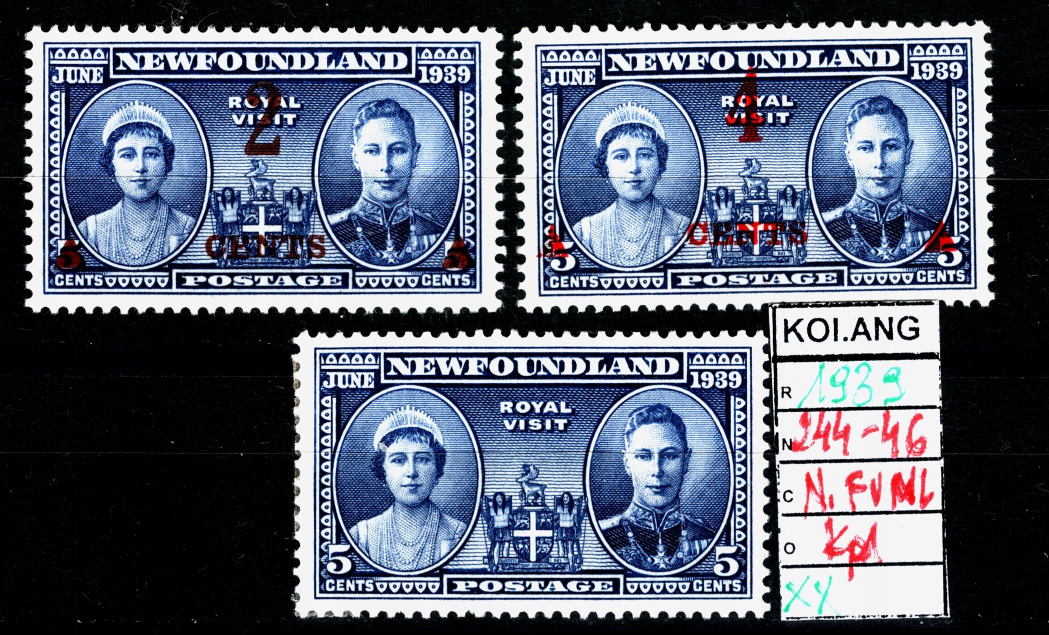 КОЛОНИИ ANG. N. FUNLANdia 244-246 ** 1939 кпл