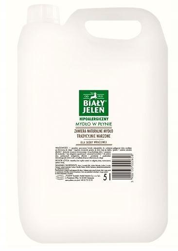 Biały Jeleń mydło w płynie hipoalergiczne 5 l
