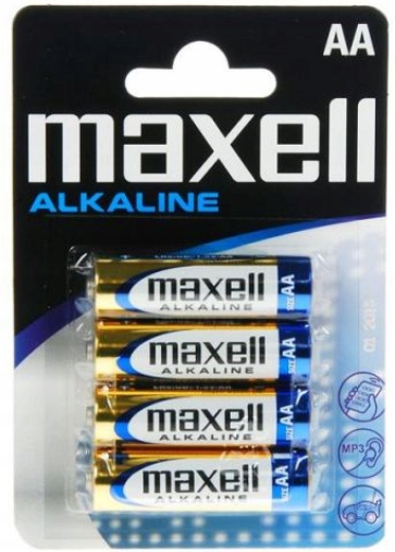 4x Baterie AA 1,5V Alkaline MAXELL LR6 Marka Maxell