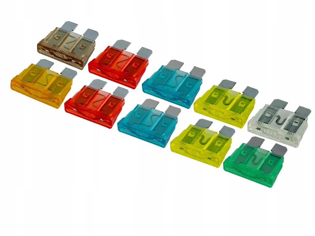предохранители автомобильные пластинчатые uni комплект 10szt