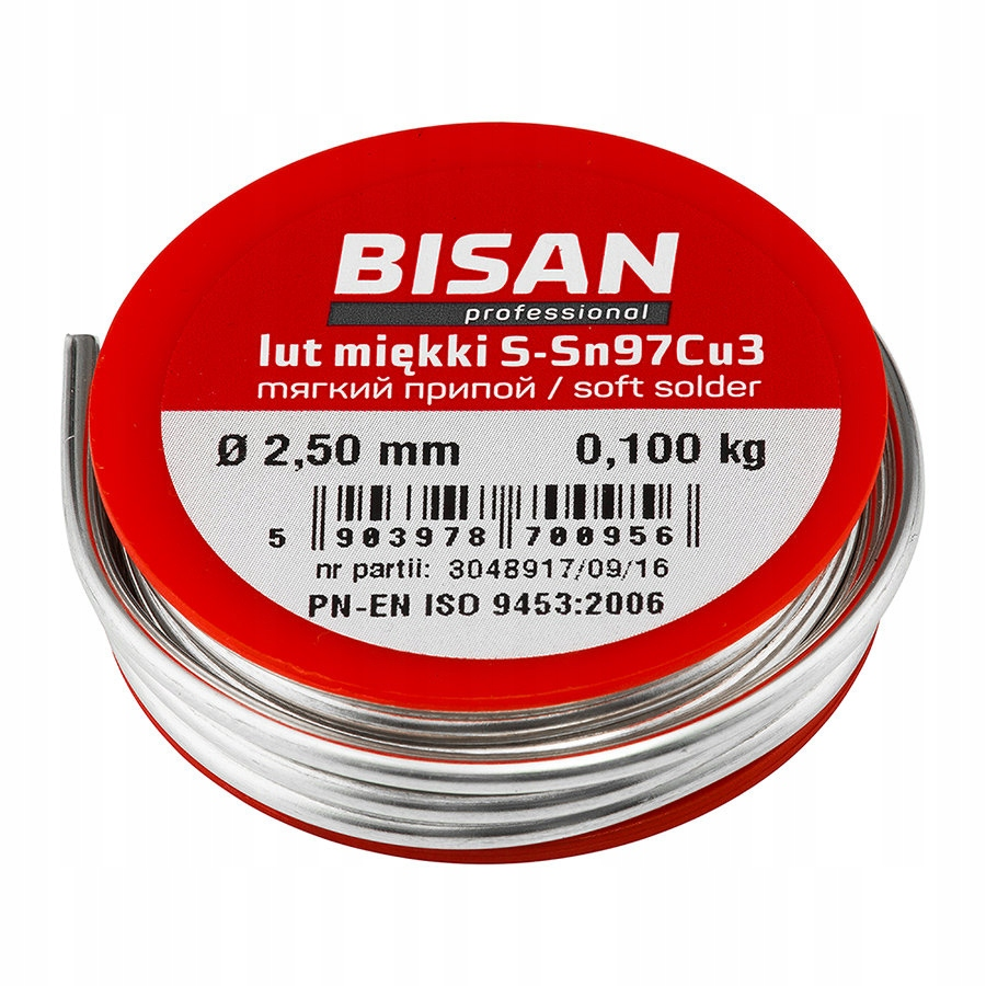 SOLDERING BINDER TIN WITH FLUX 2.5mm 100g 1pcs