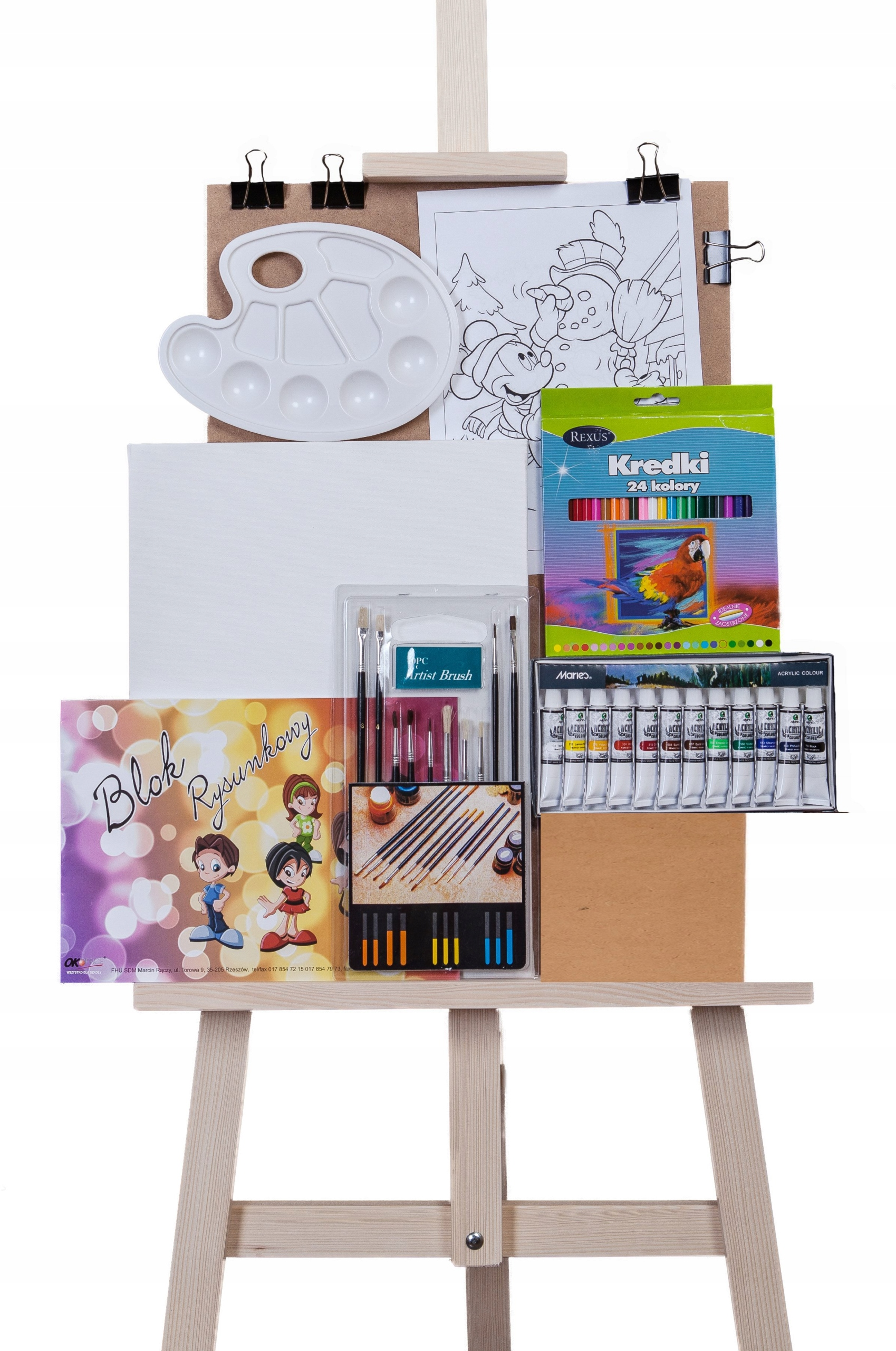 Item Painting SET for BABY +EASEL, paints,pencils