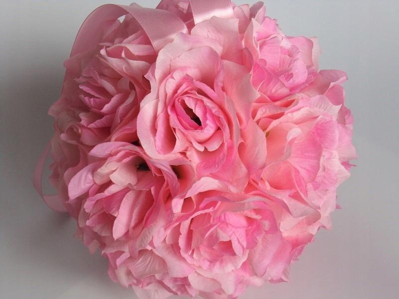 KK1  Kula kwiatowa dekoracja z kwiatów 20cm ślub