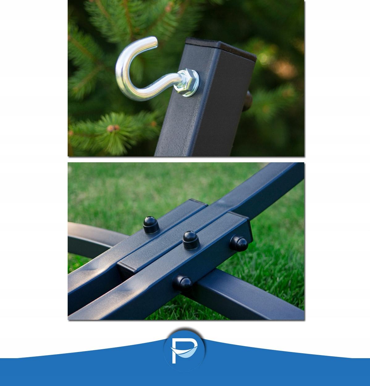 Oceľový rám POTENZA 220 kg + hojdacia sieť 220x160 POLSKÁ Materiál rámu - kov