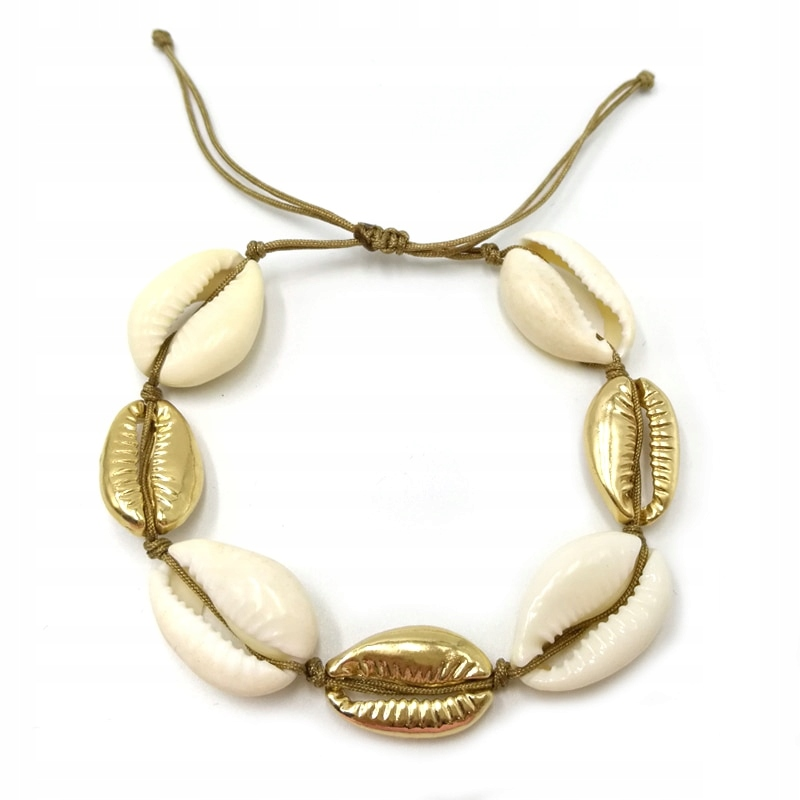 Item Bracelet white gold scallop shell bali shell