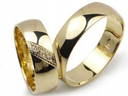 Item GOLDRUN GOLD wedding RINGS L014 6MM PAIR