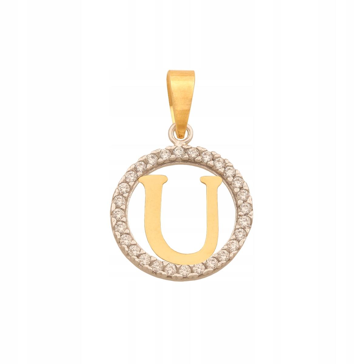 Zlatý Prívesok 585 1.20 Písmeno g Drahokamu
