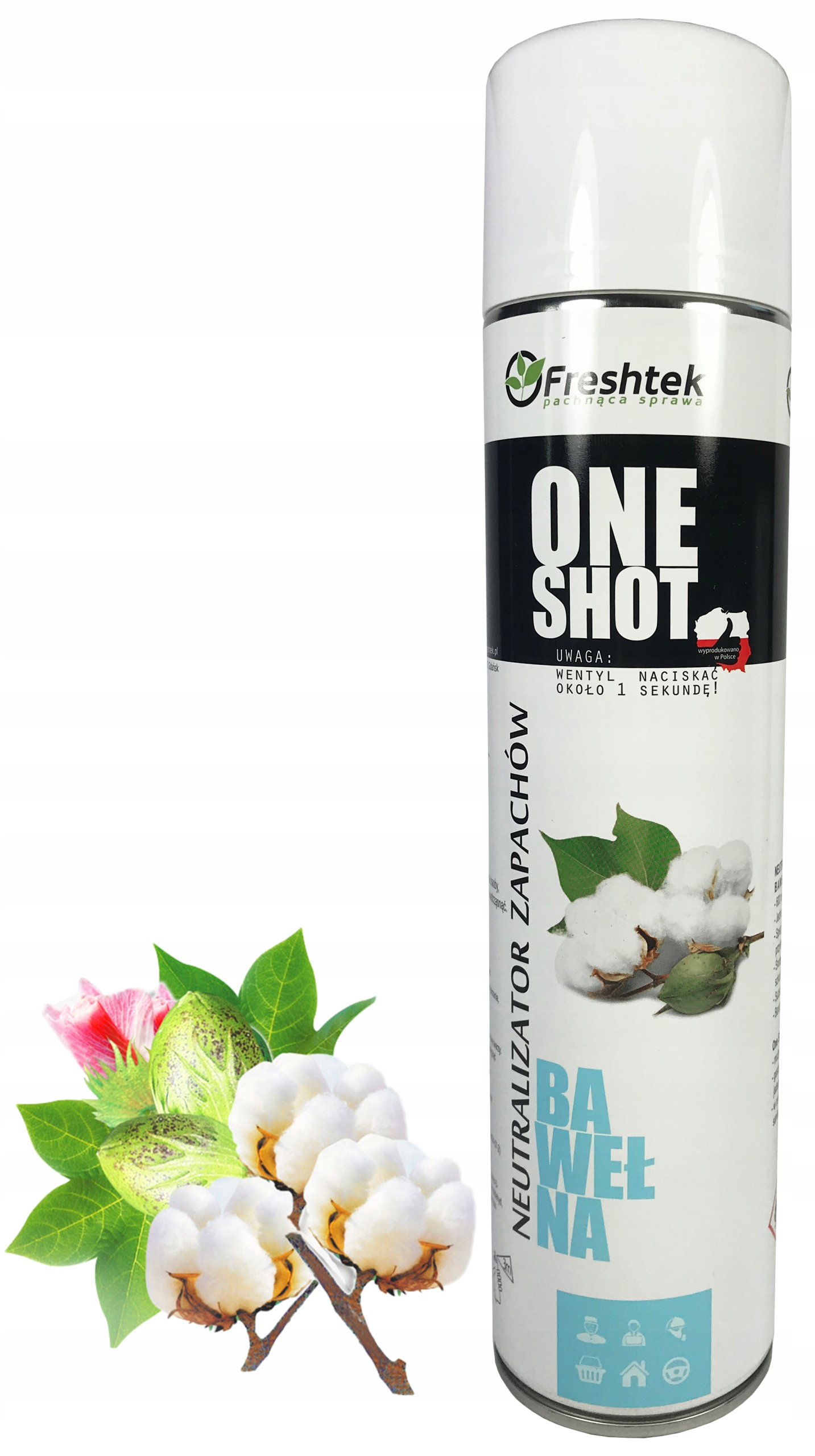 Neutralizator zapachów ONE SHOT Freshtek BAWEŁNA
