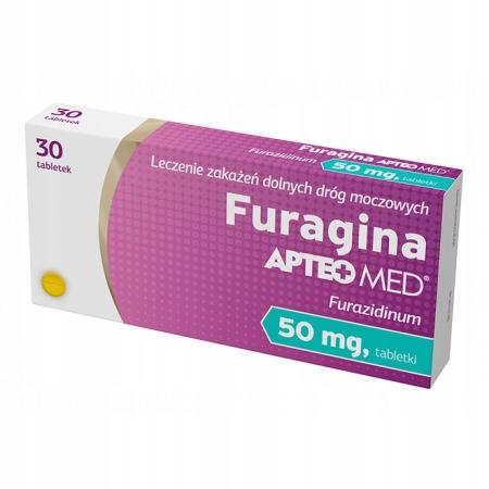 Купить Furagina APTEO MED мочевой пузырь препарат 50 мг 30 таблеток на Otpravka - цены и фото - доставка из Польши и стран Европы в Украину.