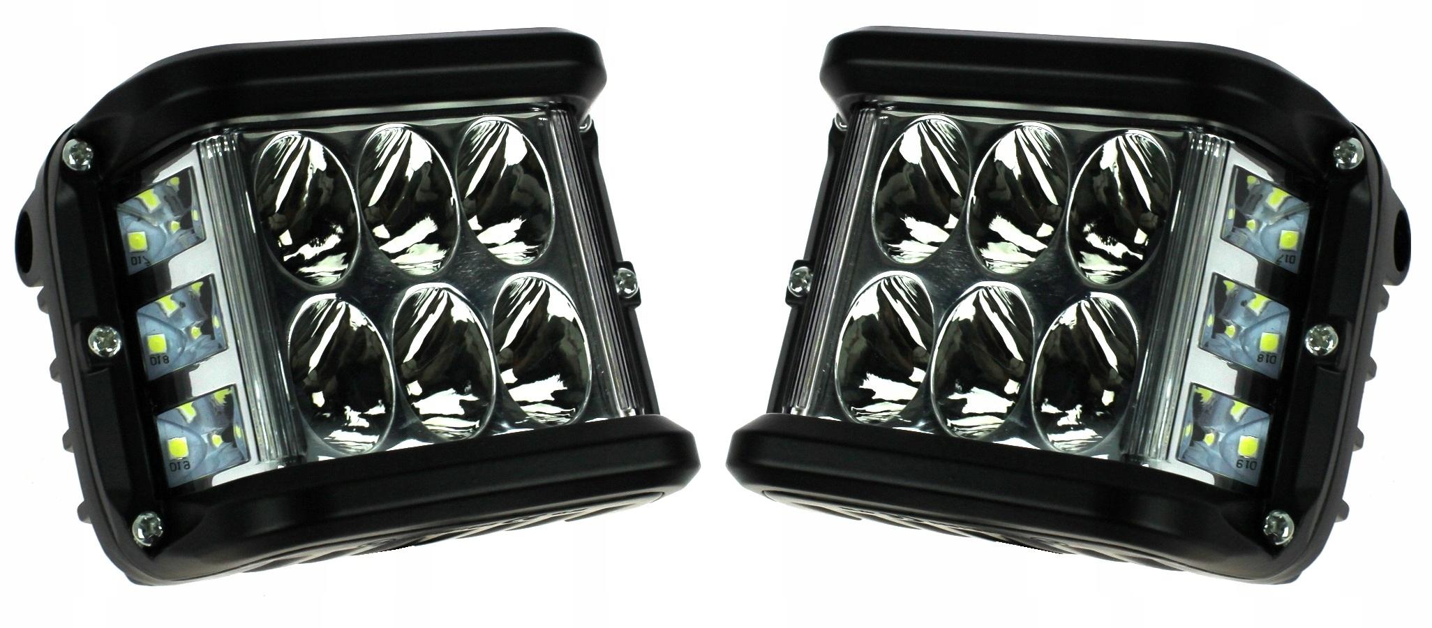 лампа рабочая панель led комплект 2 шт 72w cube