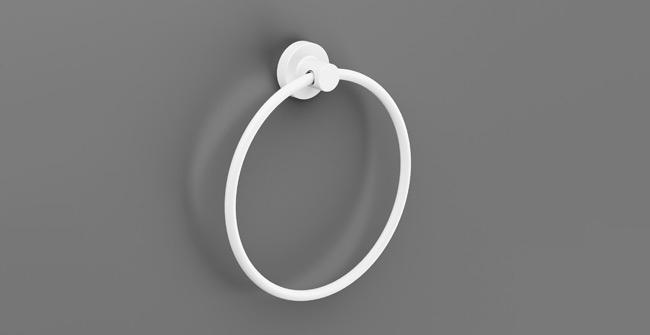 Okrúhly vešiak na uteráky SONIA Tecno biely