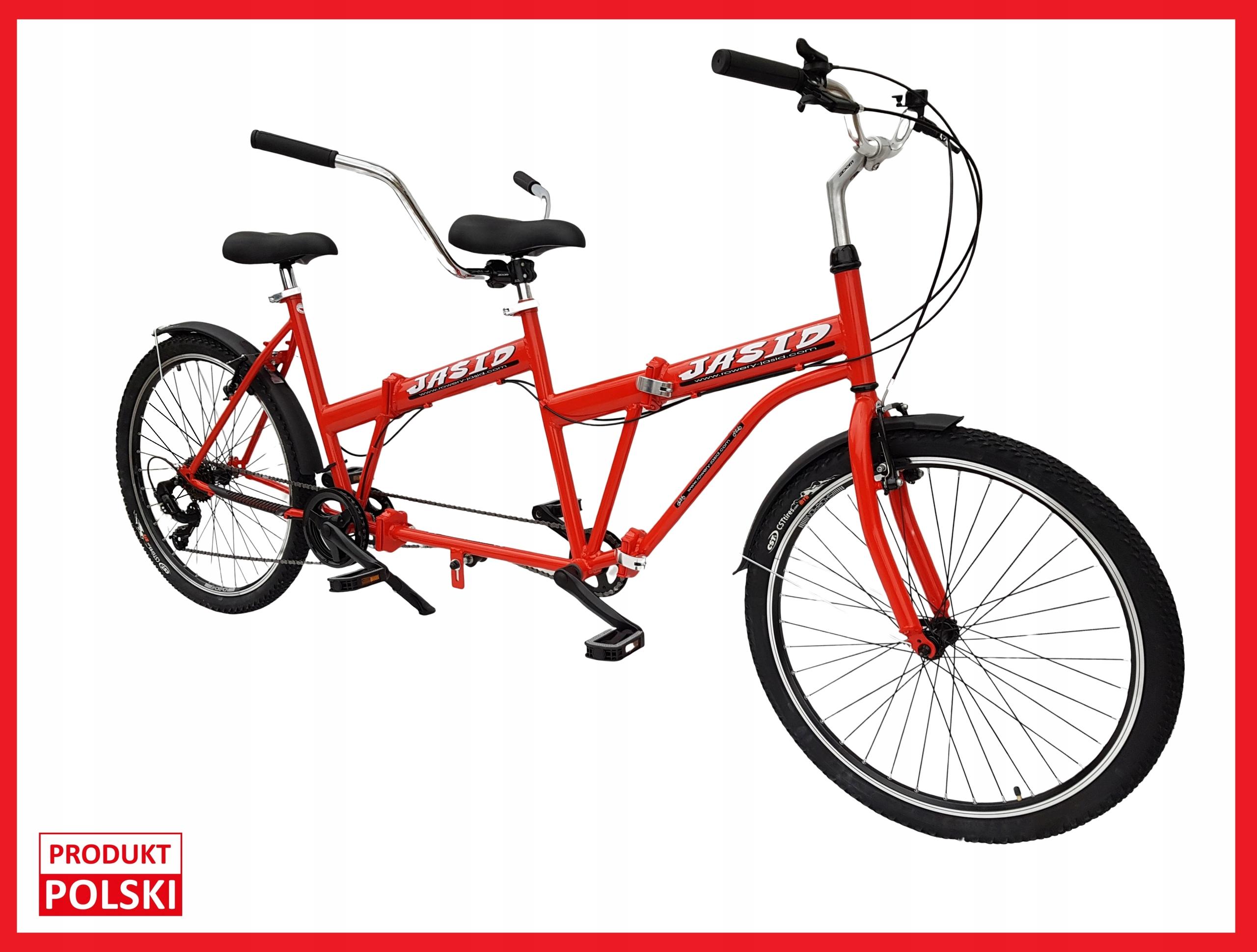 Tandem Skladací bicykel 26' POĽSKÝ Výrobca plochým dnom lode