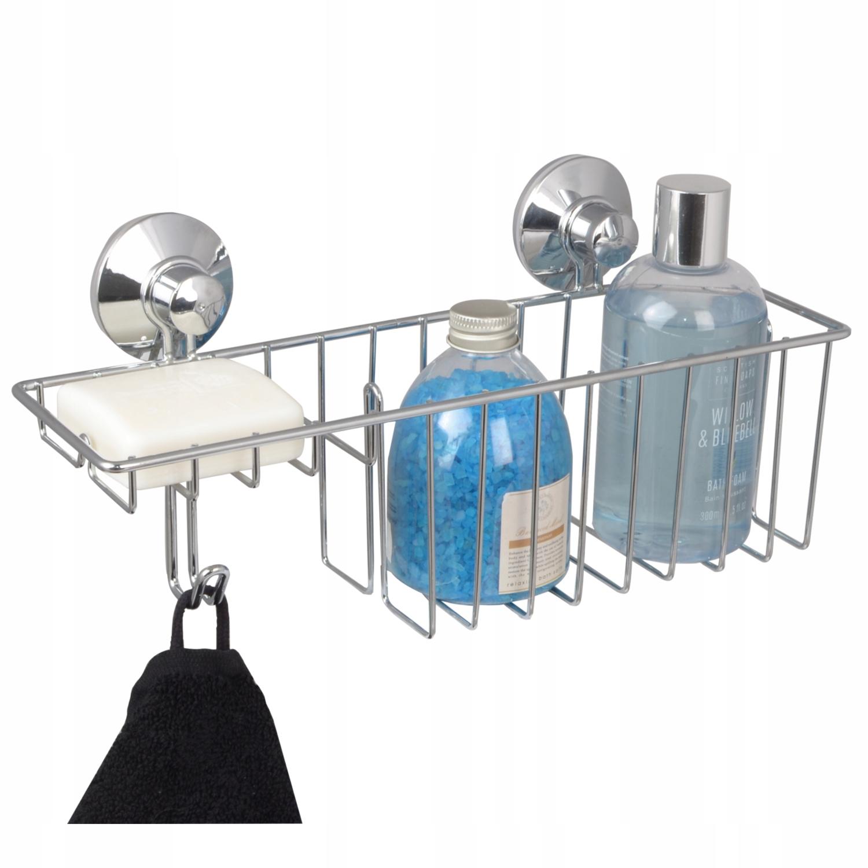 Koszyk łazienkowy półka pod prysznic z haczykiem